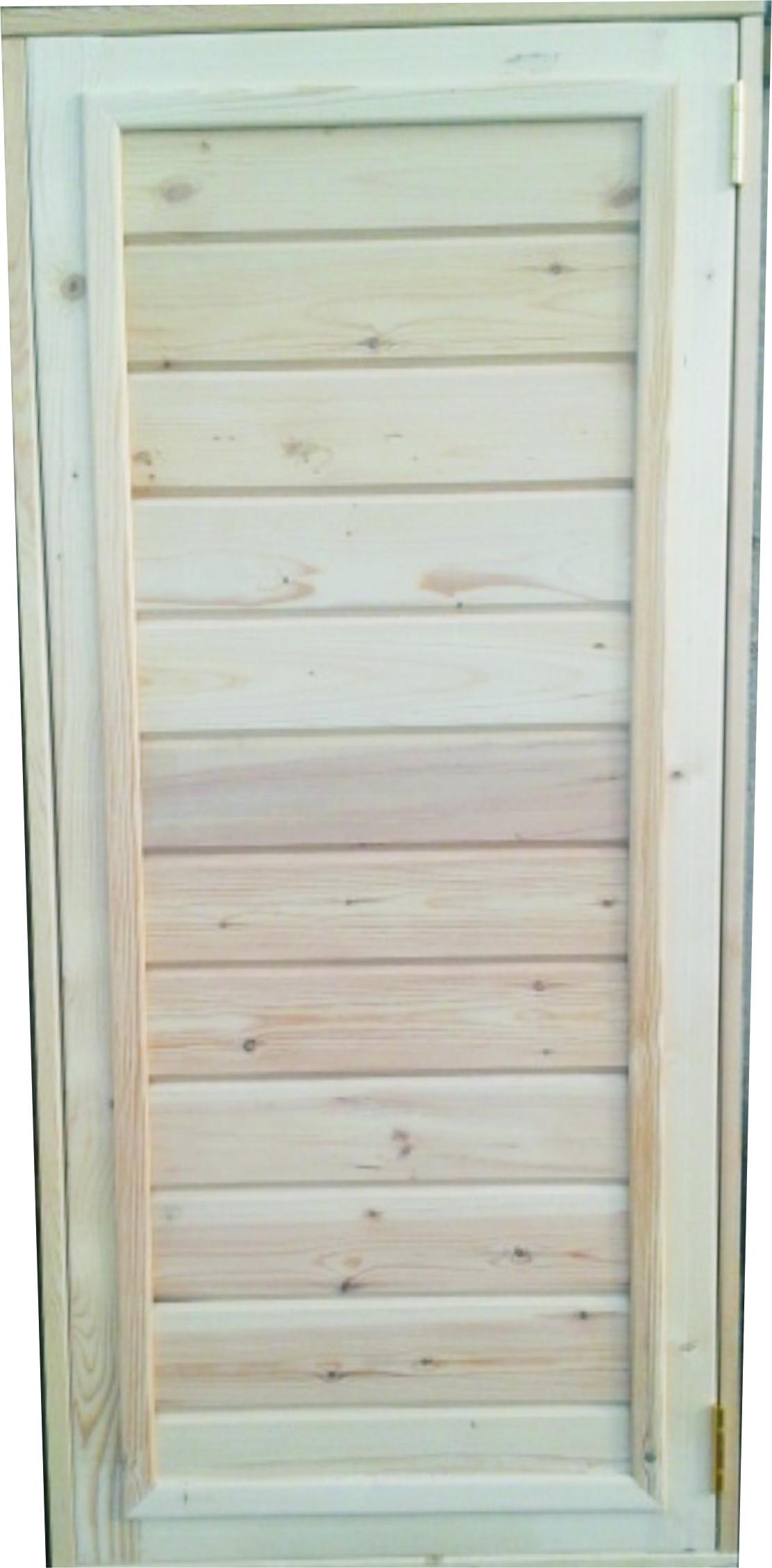 Дверь Банная (с коробкой, с навесами) фото 1