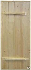 Дверь Банная, Массив СОСНА (с коробкой, с навесами) фото 1
