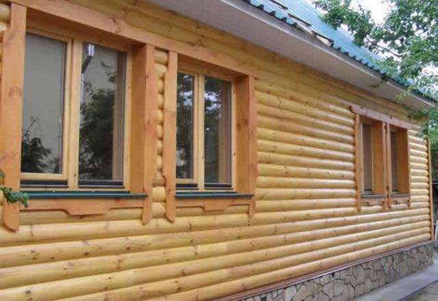 Блок-хаус (имитация бревна) фото 1
